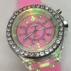 Geneva Diamond Encrusted Luminous Watch